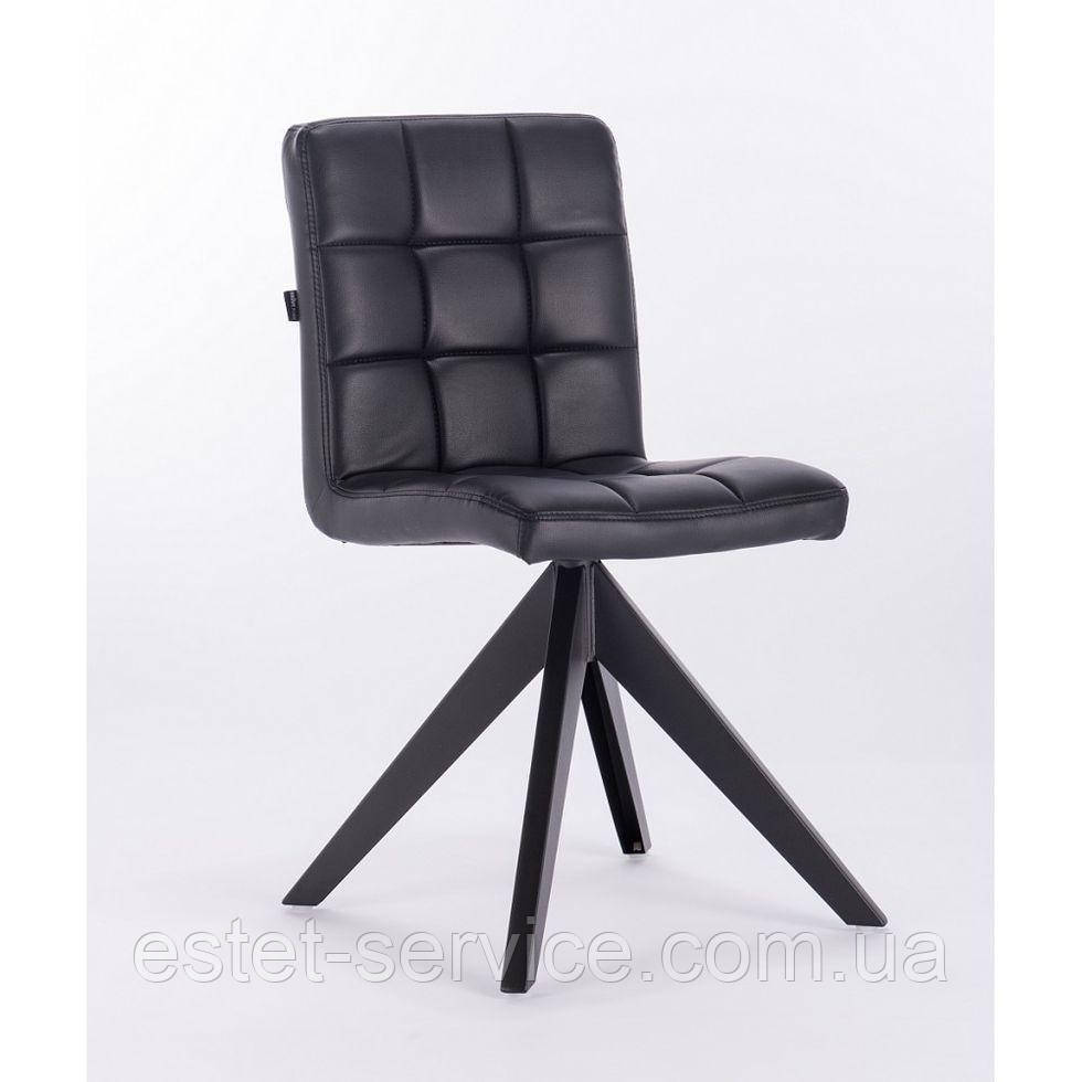 Кресло HROVE FORM HR7009 черное экокожа на 4-х ножках