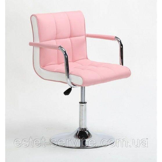 Кресло косметическое HC811N с подлокотниками на низкой барной основе в ЦВЕТАХ кожзам
