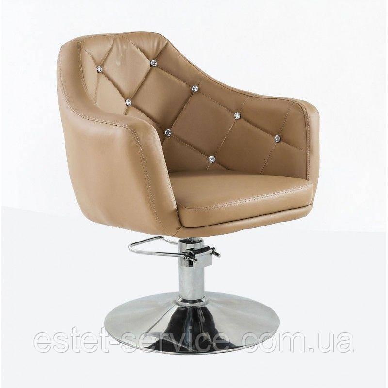 Кресло парикмахерское HC830H карамель ГИДРАВЛИКА