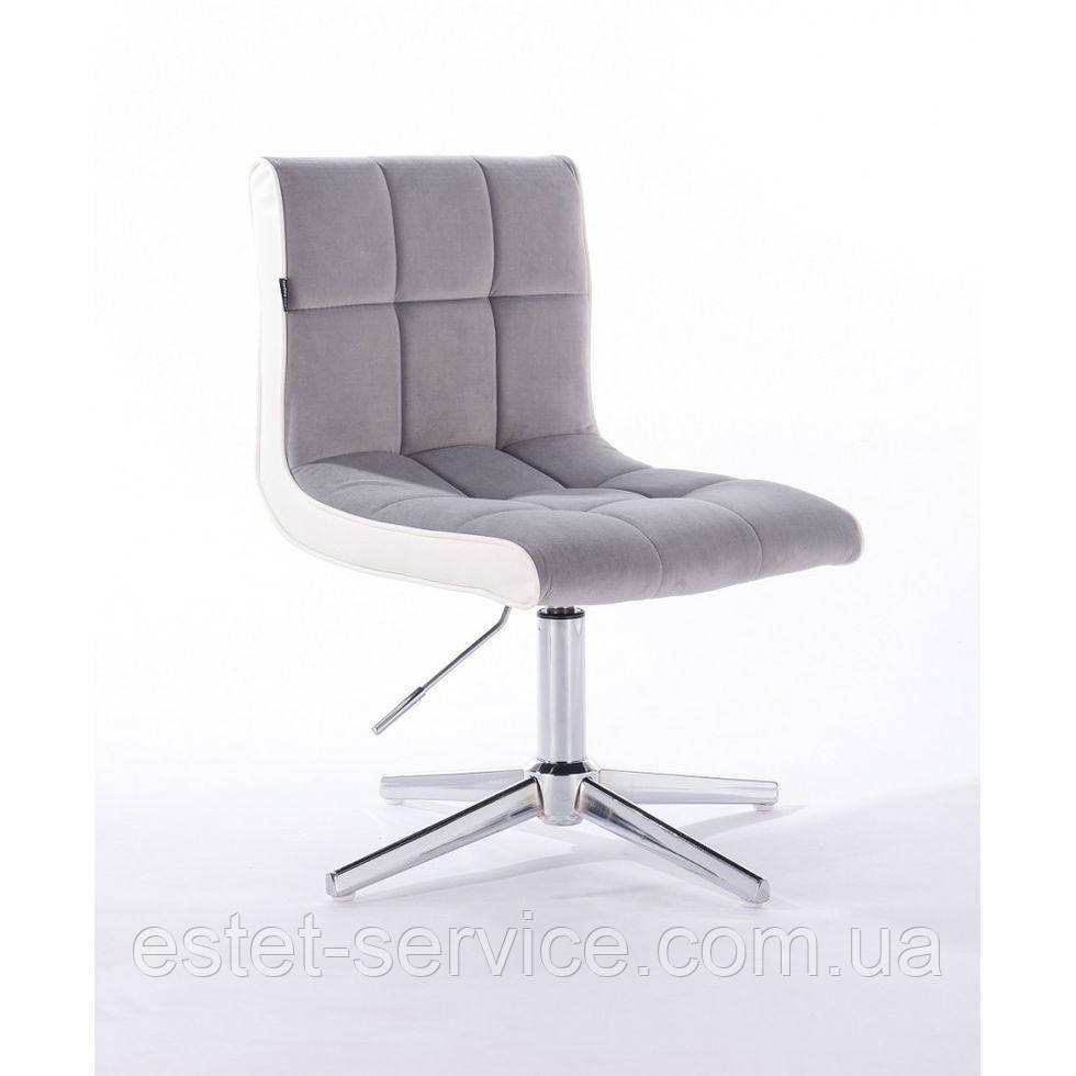 Парикмахерское  кресло HROVE FORM HR810CROSS стальной велюр