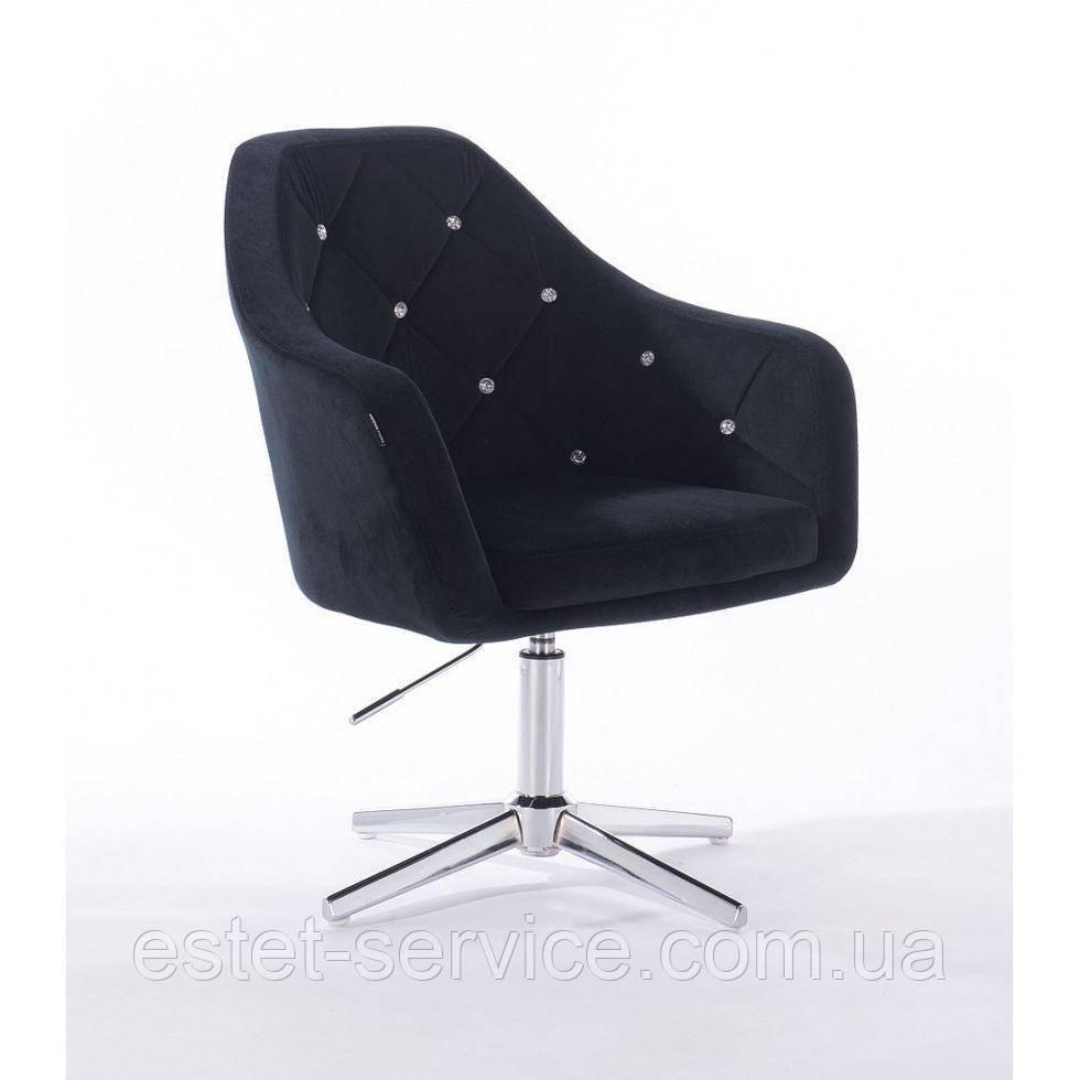 Парикмахерское  кресло HROVE FORM HR830CROSS черный велюр