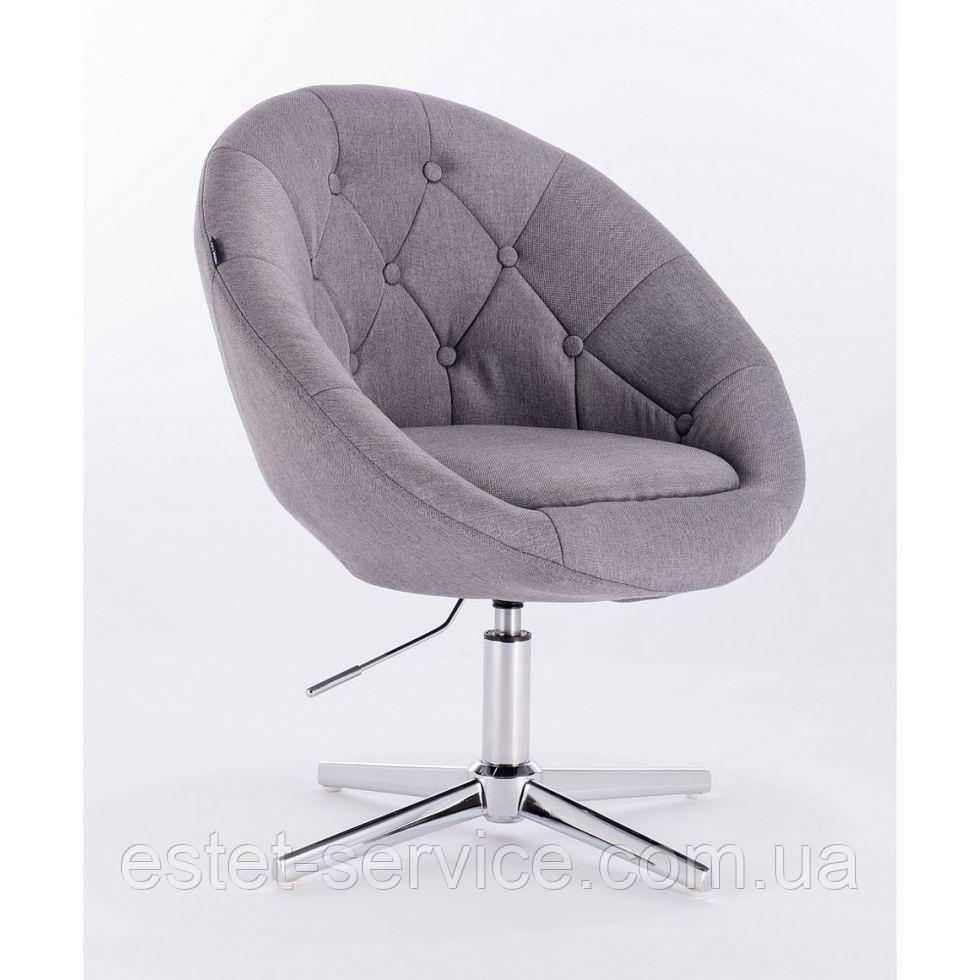 Парикмахерское  кресло HROVE FORM HR8516 серое ткань