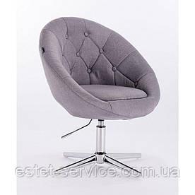 Парикмахерское кресло HROVE FORM HR8516 на хром стопках ТКАНЬ