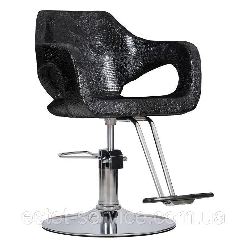 Парикмахерское кресло Bresso черный крокодил