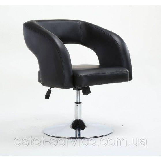 Парикмахерское кресло HC801 на низкой барной основе в ЦВЕТАХ кожзам