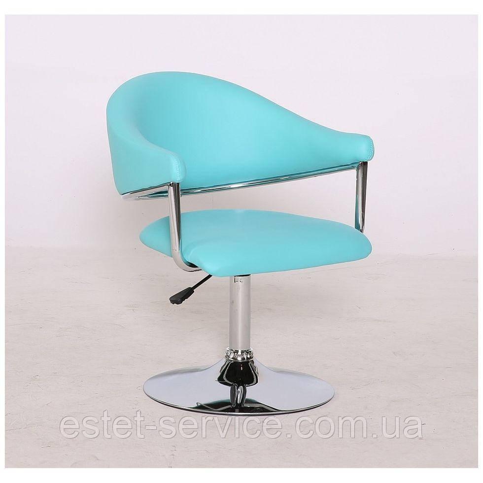 Парикмахерское кресло HC8056 на диске в ЦВЕТАХ кожзам