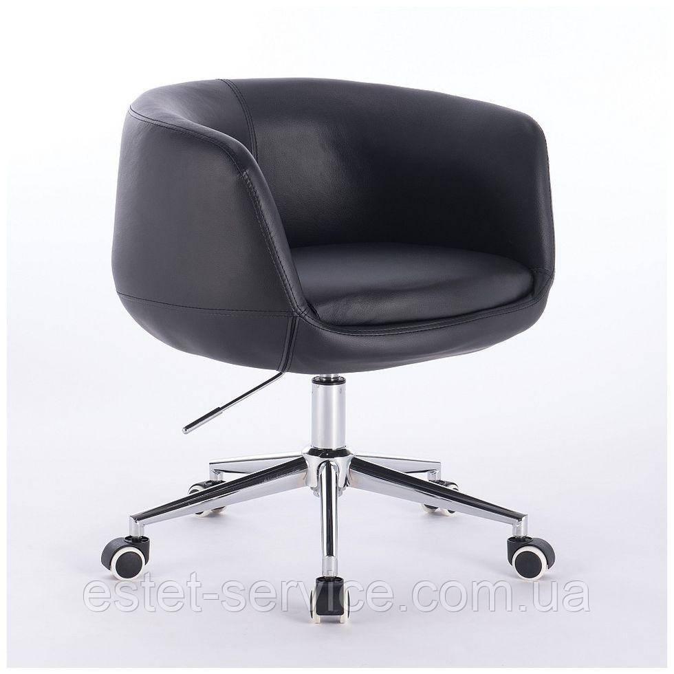 Парикмахерское кресло HC333K черное экокожа