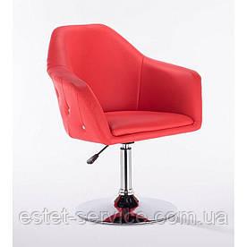 Парикмахерское кресло HC547 красное