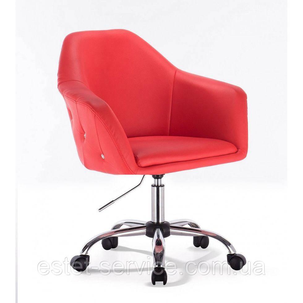Парикмахерское кресло HC547k красное