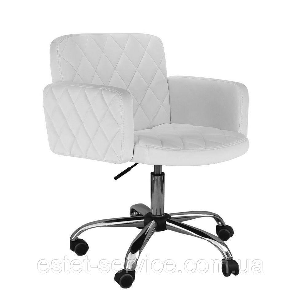Парикмахерское кресло HC8020k белое