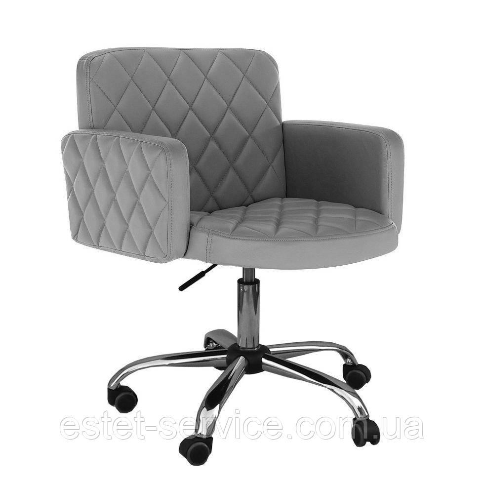 Парикмахерское кресло HC8020k серое