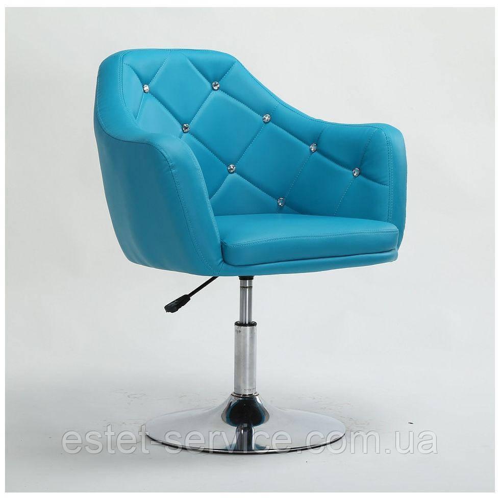 Парикмахерское кресло HC830 бирюзовое