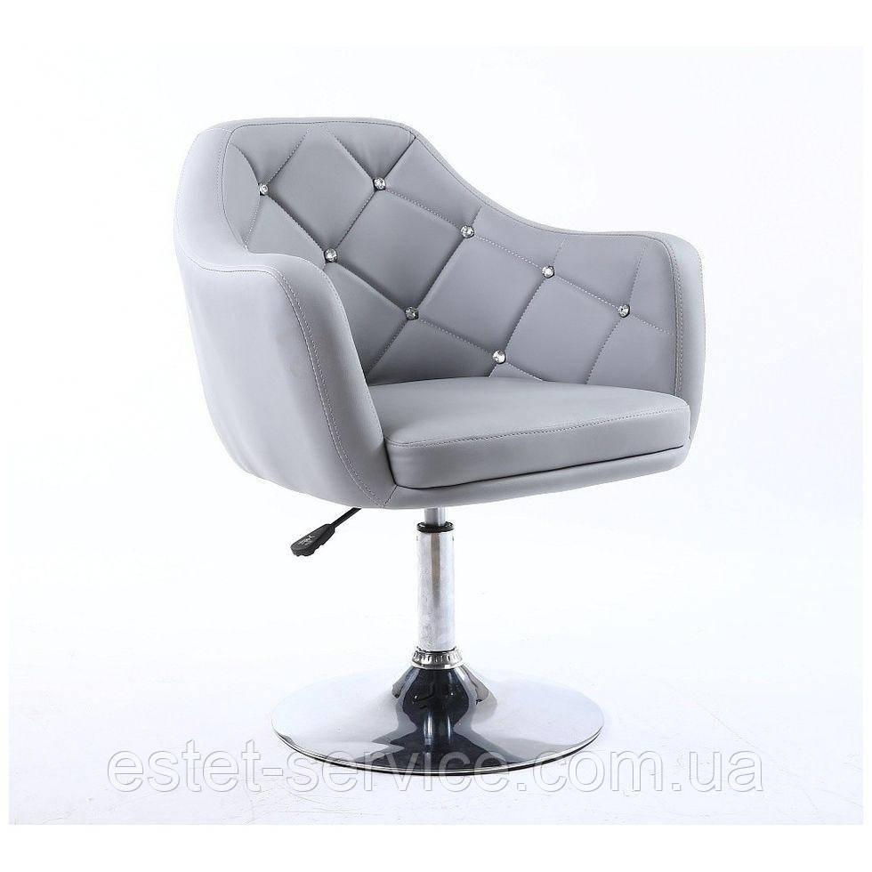 Парикмахерское кресло HC830 серое кожзам