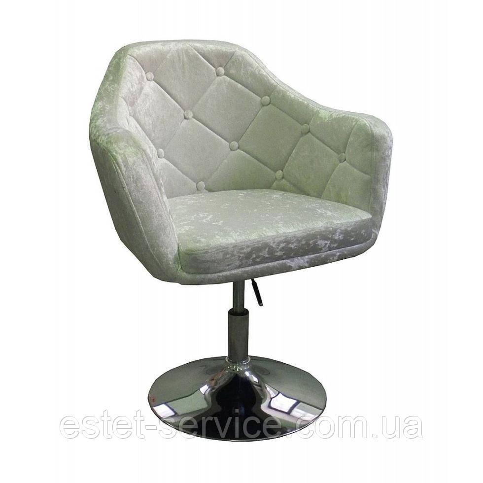 Парикмахерское кресло HC830 светло-серое велюр