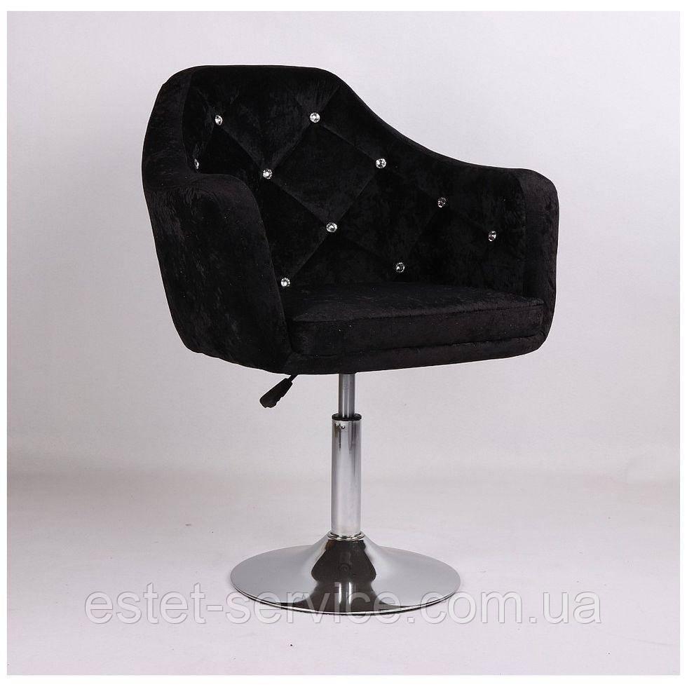 Кресло парикмахерское HC830 на низкой барной основе в ЦВЕТАХ велюр