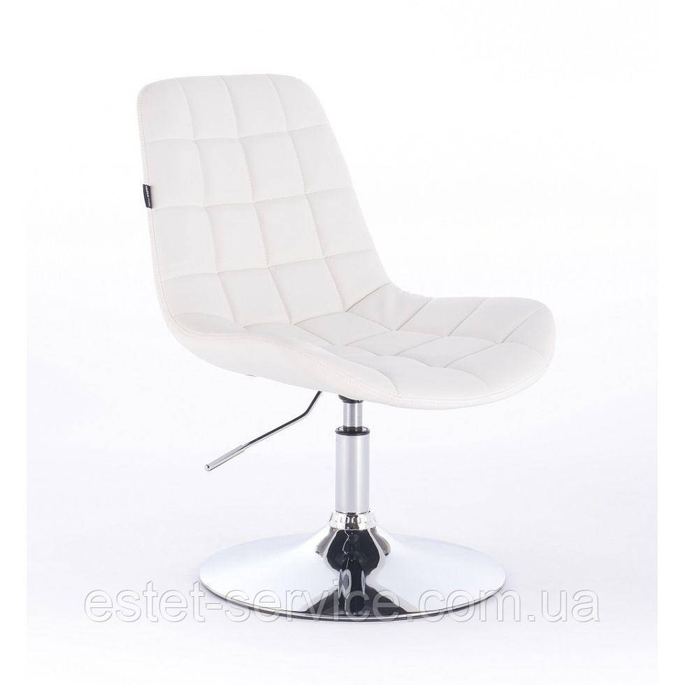 Парикмахерское кресло HR590N белое
