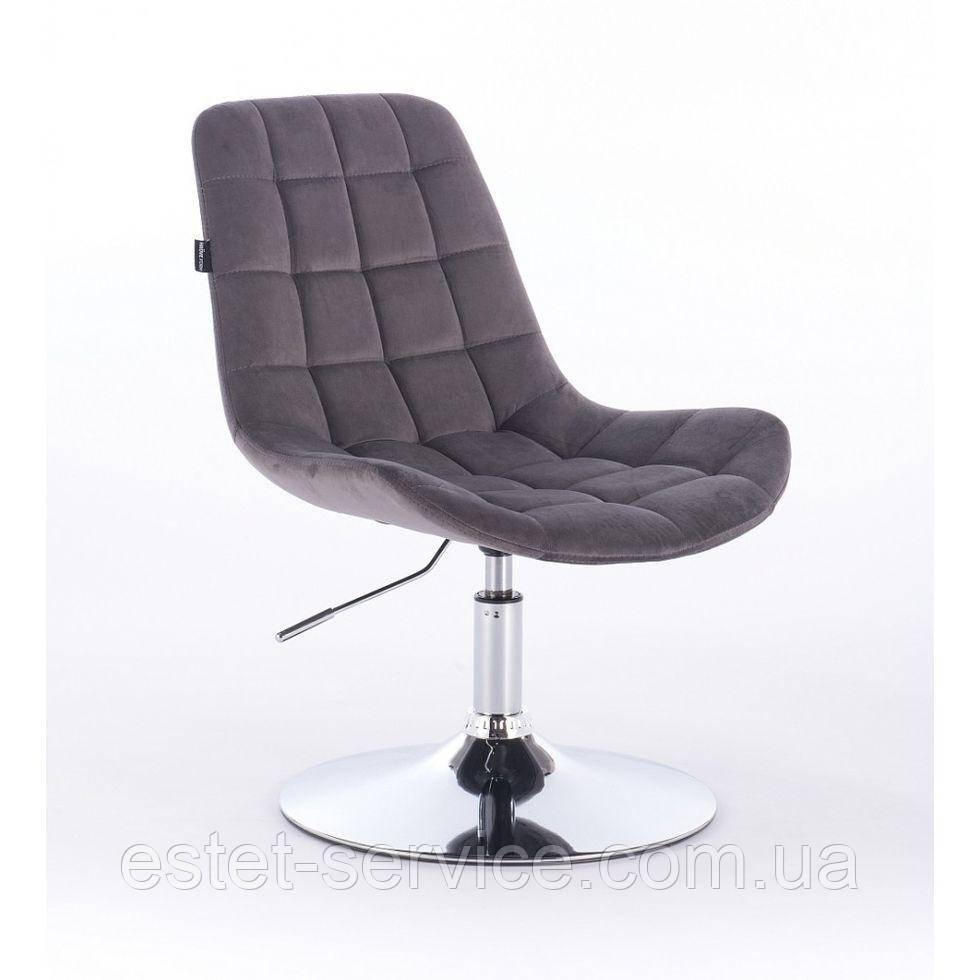 Парикмахерское кресло HR590N графитовое велюр