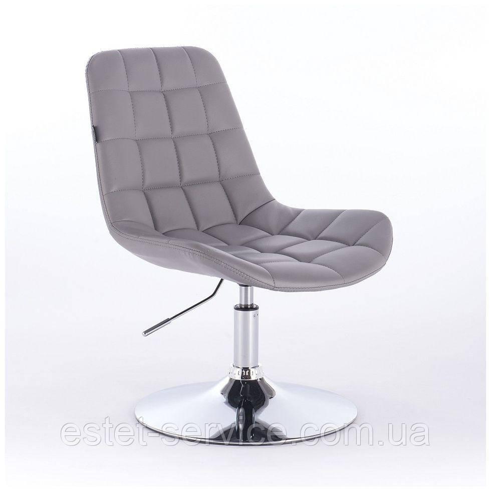 Парикмахерское кресло HR590N серое