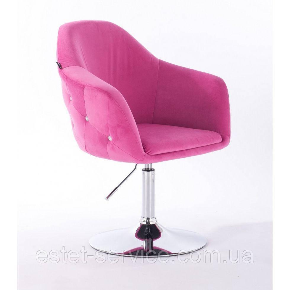 Парикмахерское кресло Hrove form HR547 малиновый велюр