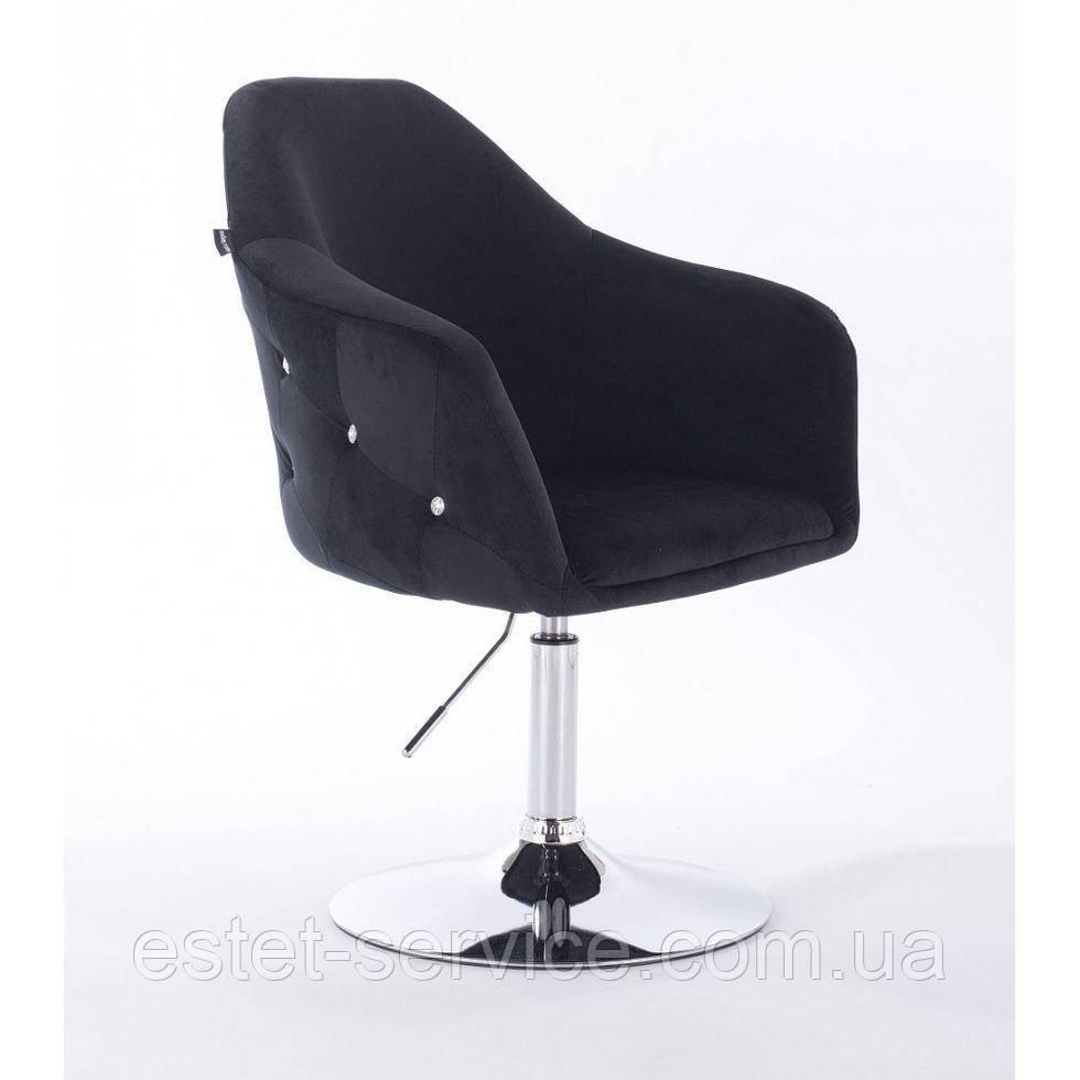 Парикмахерское кресло Hrove form HR547 черный велюр