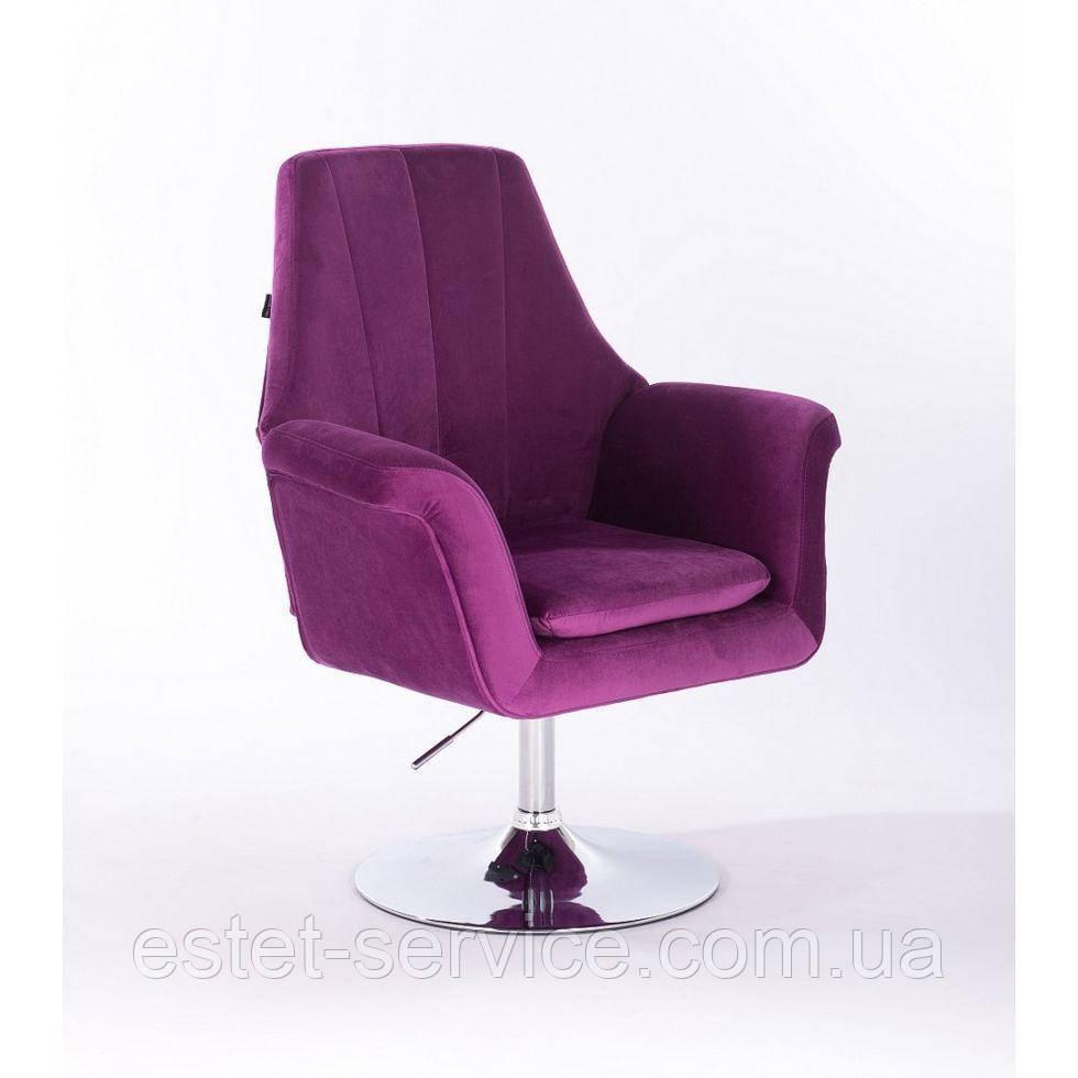 Парикмахерское кресло HROVE FORM HR660 на низкой барной основе в ЦВЕТАХ велюр