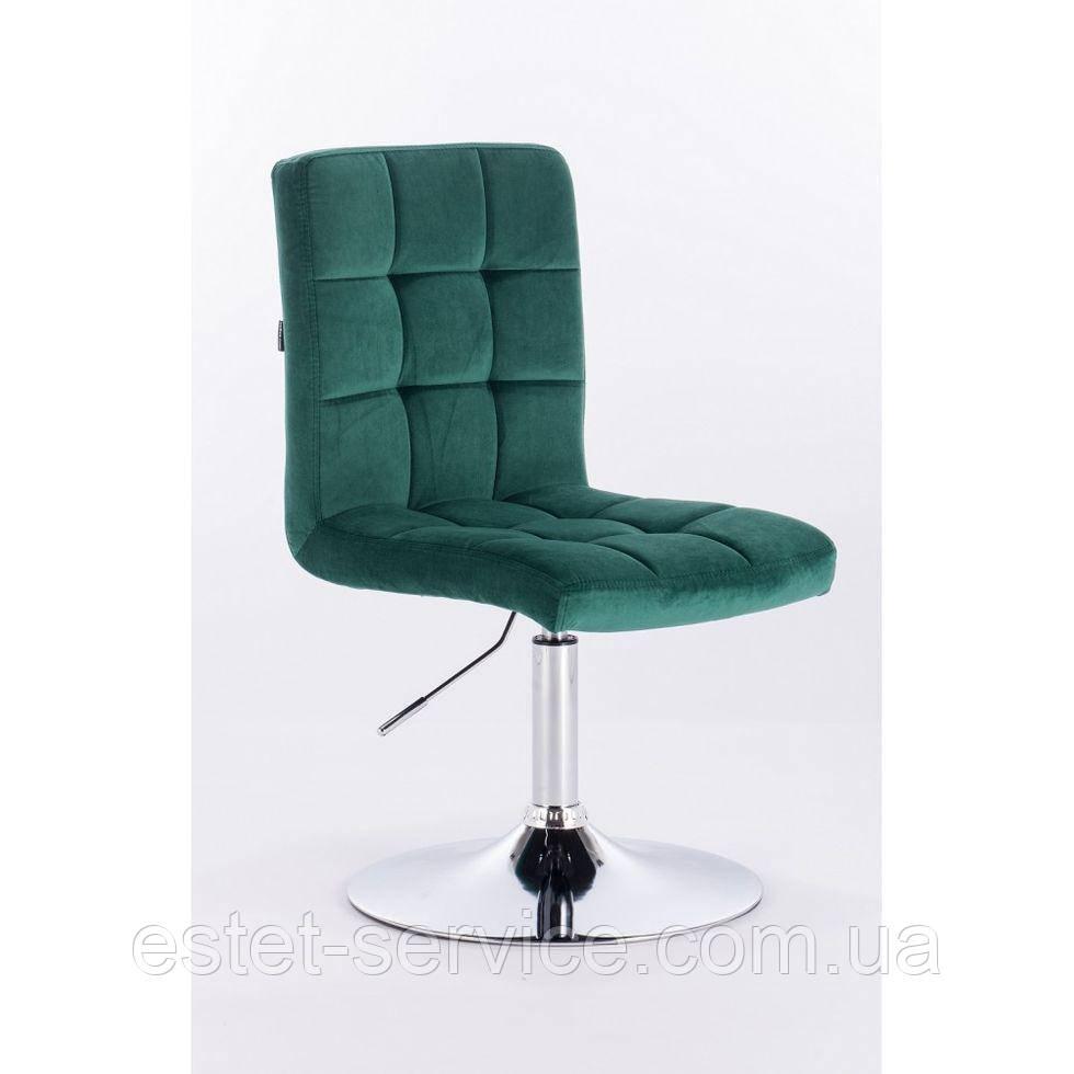 Парикмахерское кресло HROVE FORM HR7009N бутылочное зеленое