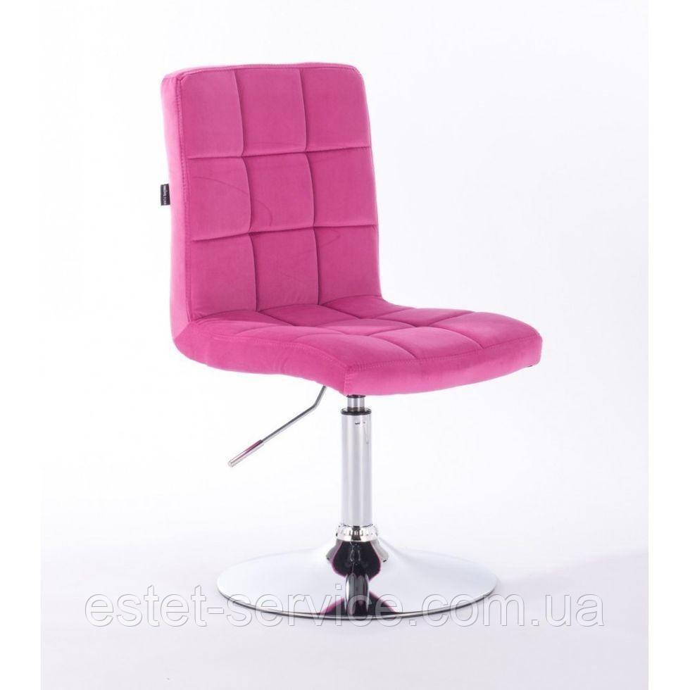 Парикмахерское кресло HROVE FORM HR7009N малиновый велюр