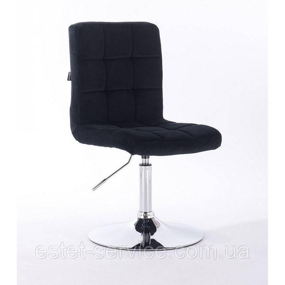 Парикмахерское кресло HROVE FORM HR7009N черный велюр
