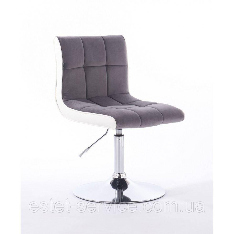 Парикмахерское кресло HROVE FORM HR810 графитовый велюр