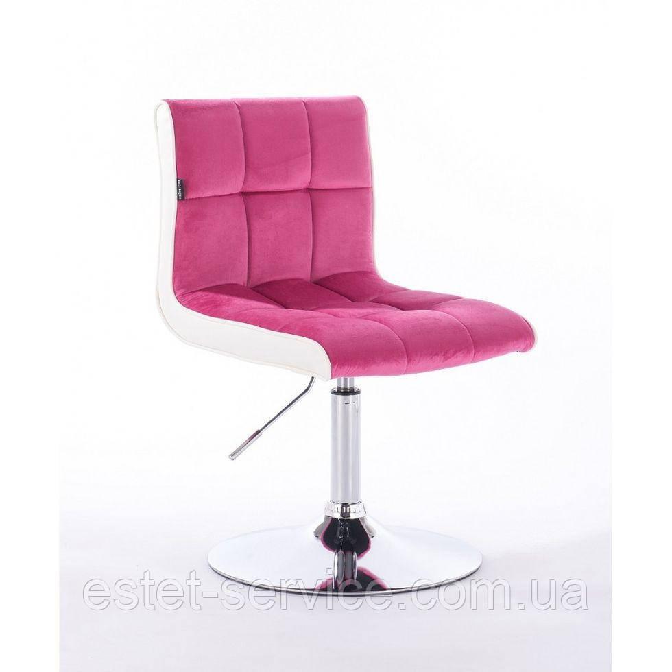 Парикмахерское кресло HROVE FORM HR810 малиновый велюр