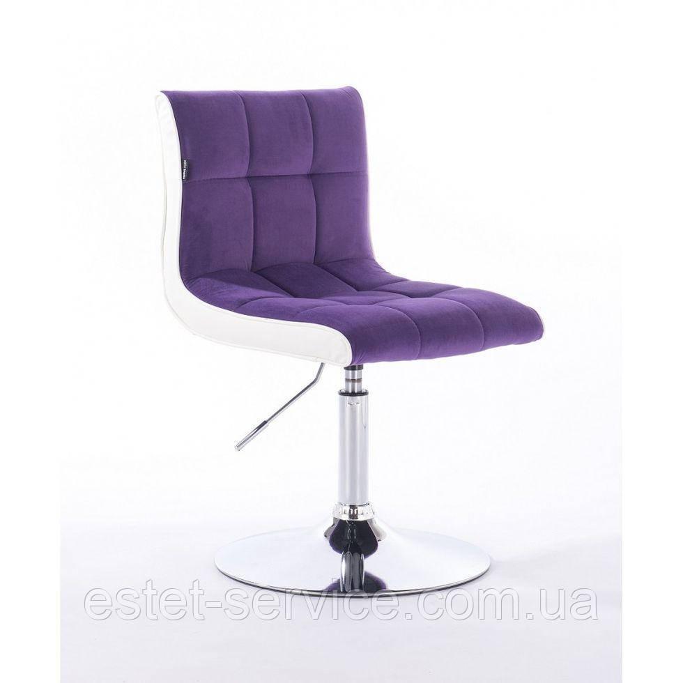Парикмахерское кресло HROVE FORM HR810 фиолетовый велюр