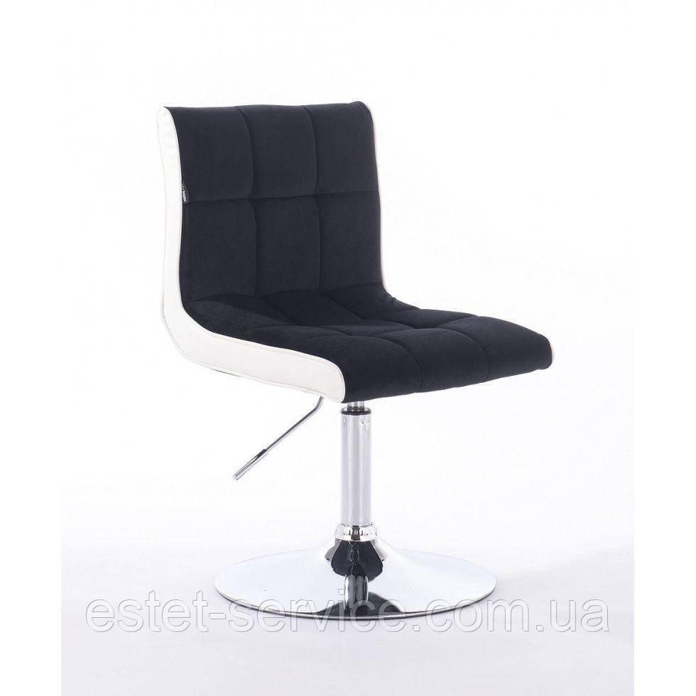 Парикмахерское кресло HROVE FORM HR810 черный велюр