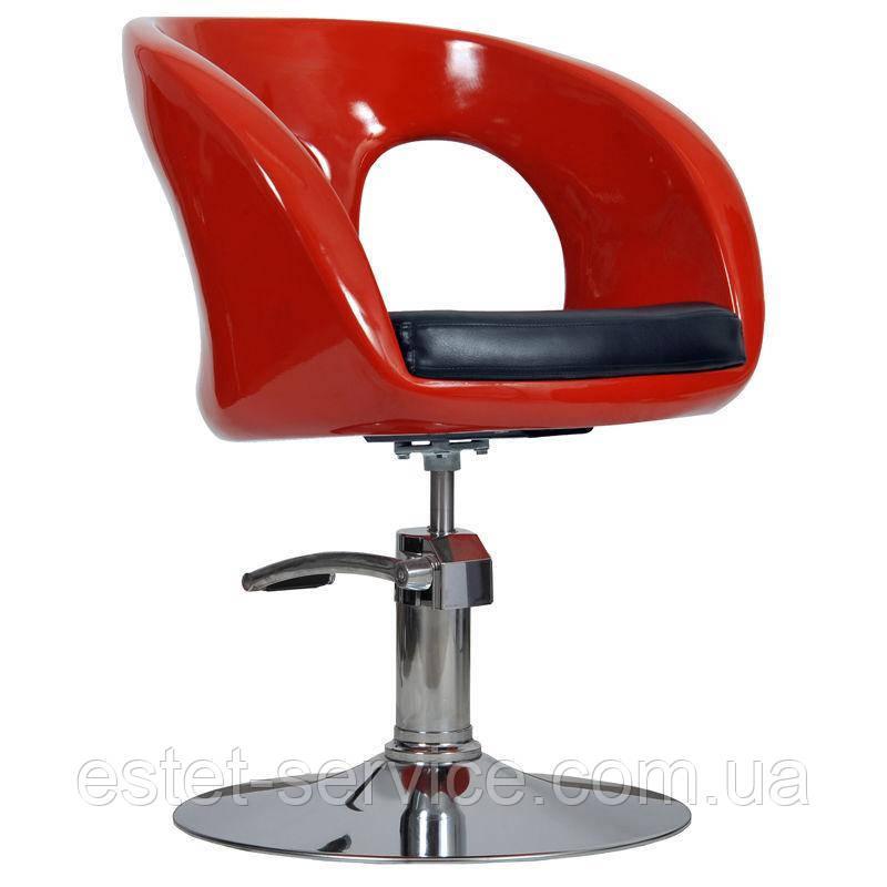 Парикмахерское кресло Ovo красное