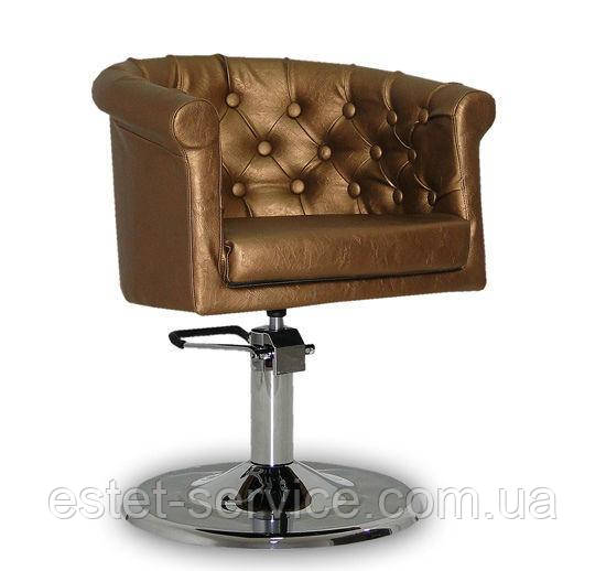 Парикмахерское кресло Rimini  золотое
