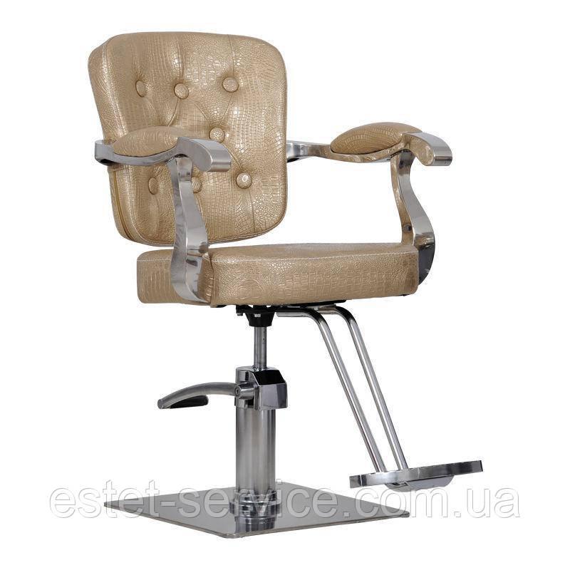 Парикмахерское кресло Savona золотой крокодил