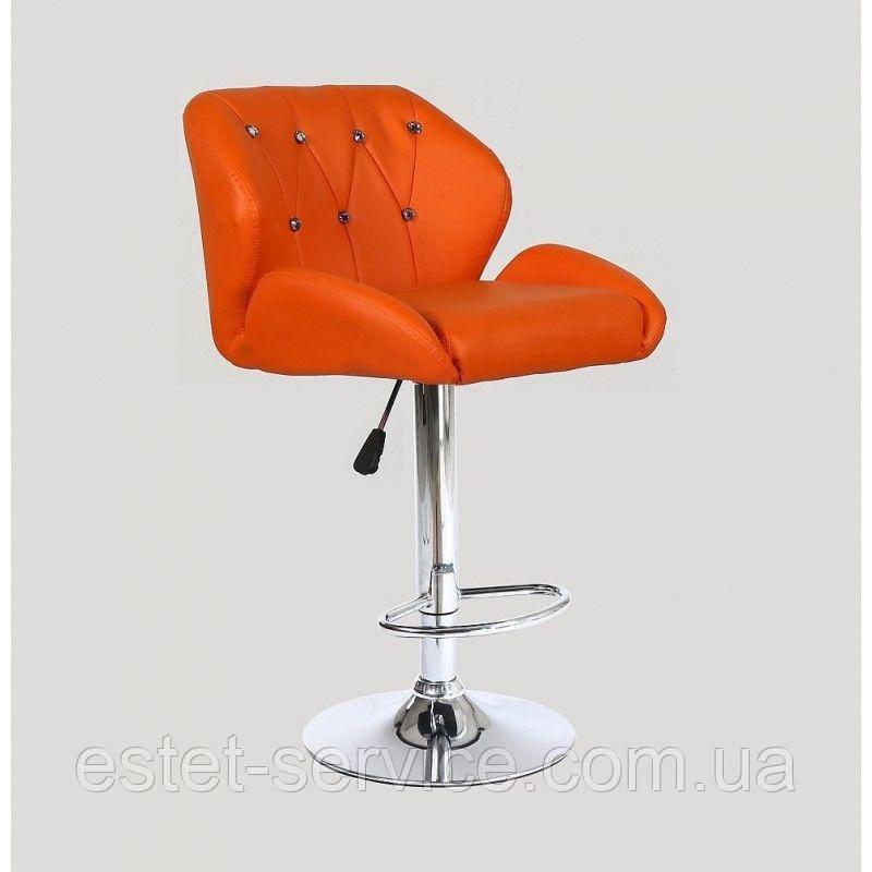Стул барный хокер HC949 оранжевый
