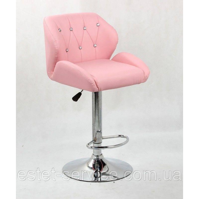 Визажный стілець хокер HC949 на барній основі в КОЛЬОРАХ кожзам