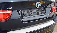 Накладка на задний бампер для BMW X6, БМВ Х6