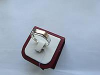 """Печатка мужская серебряная с золотой пластиной """"05"""", фото 1"""