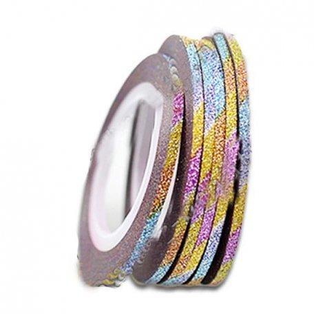 Лента для дизайна ногтей сахарная 1шт