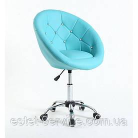 Кресло мастера HC8516CK на колесах в ЦВЕТАХ кожзам стразы