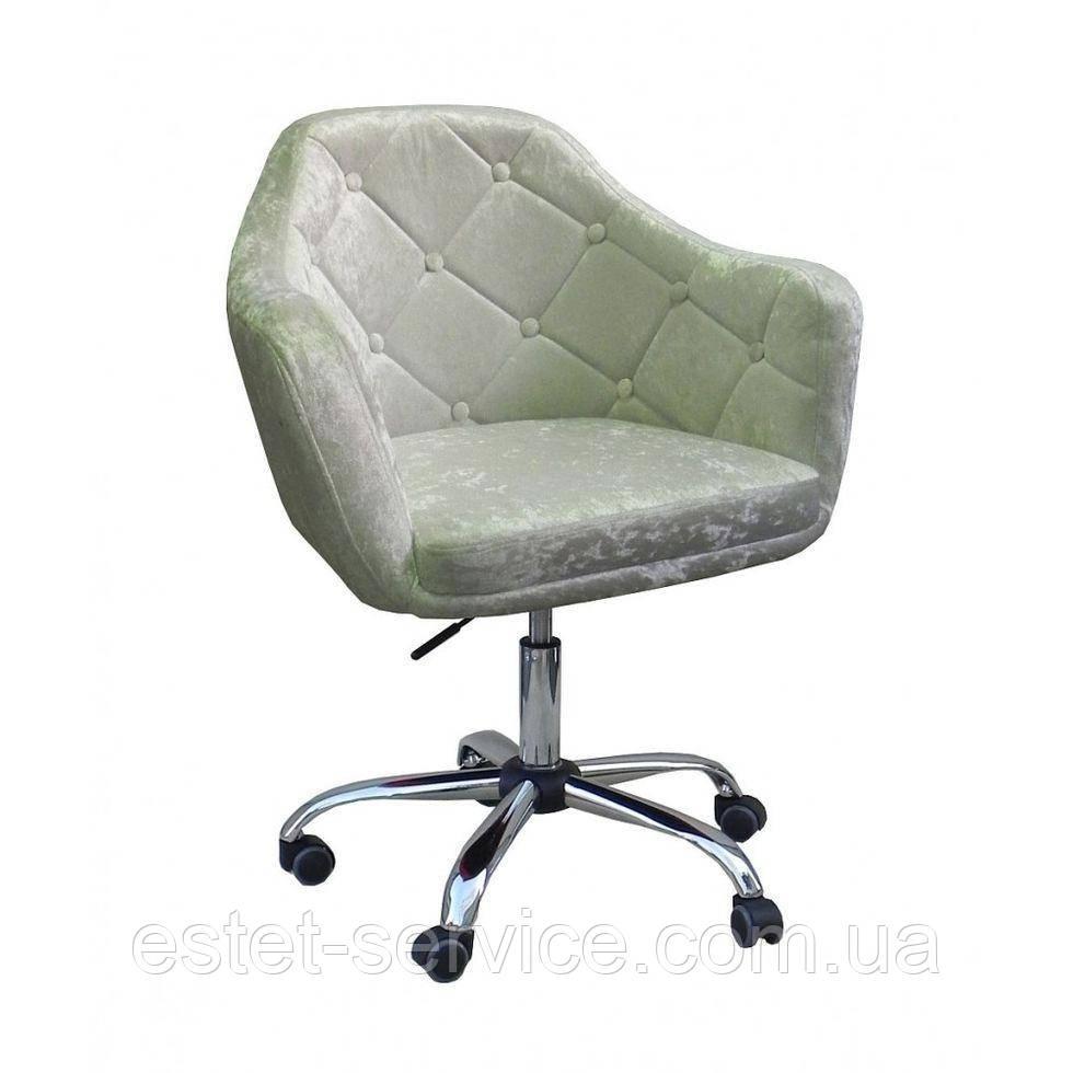 Косметическое кресло HC830K  серый велюр