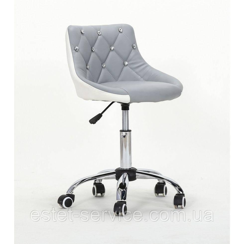Косметическое кресло HC931K  серо-белое