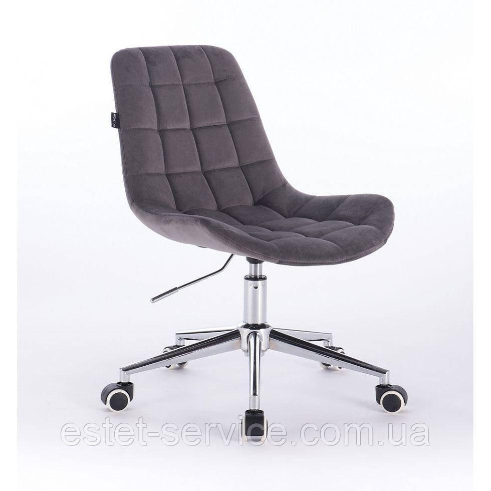 Косметическое кресло HR590K  графитовое велюр