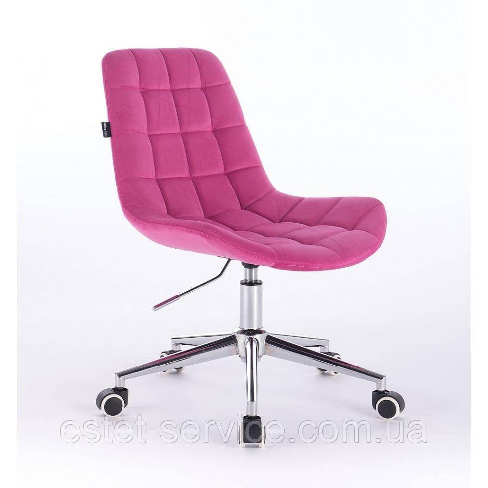Косметическое кресло HR590K  малиновое велюр
