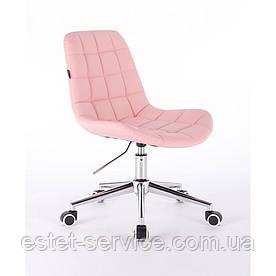 Косметическое кресло HR590K на колесах со спинкой в ЦВЕТАХ кожзам