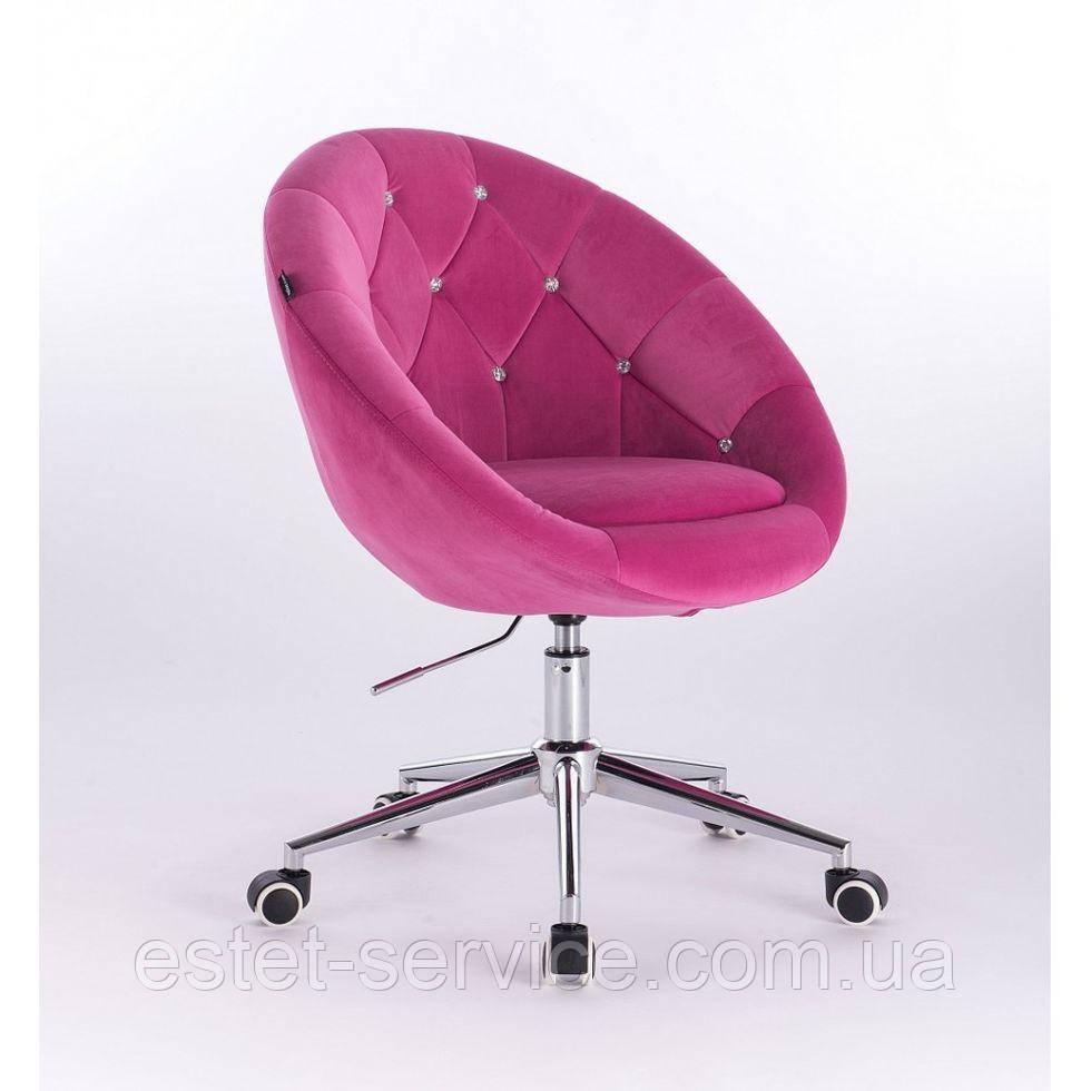 Косметическое кресло HR8516K  малиновое велюр