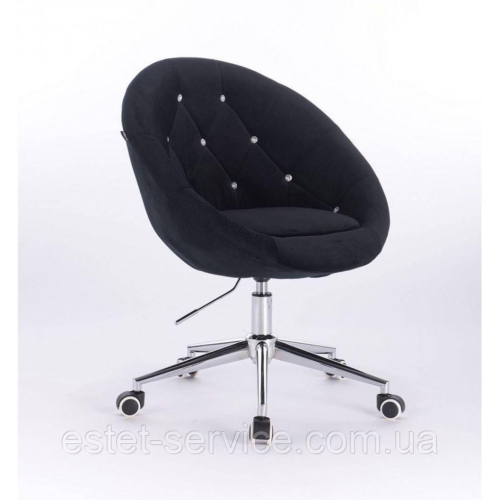 Косметическое кресло HR8516K  черное велюр