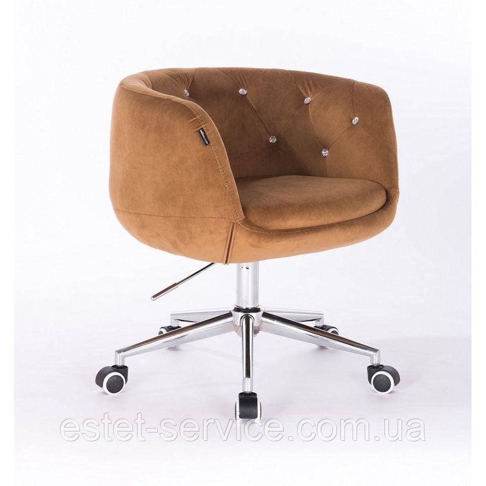 Косметическое кресло HROOVE FORM HR333K на колесах в ЦВЕТАХ велюр