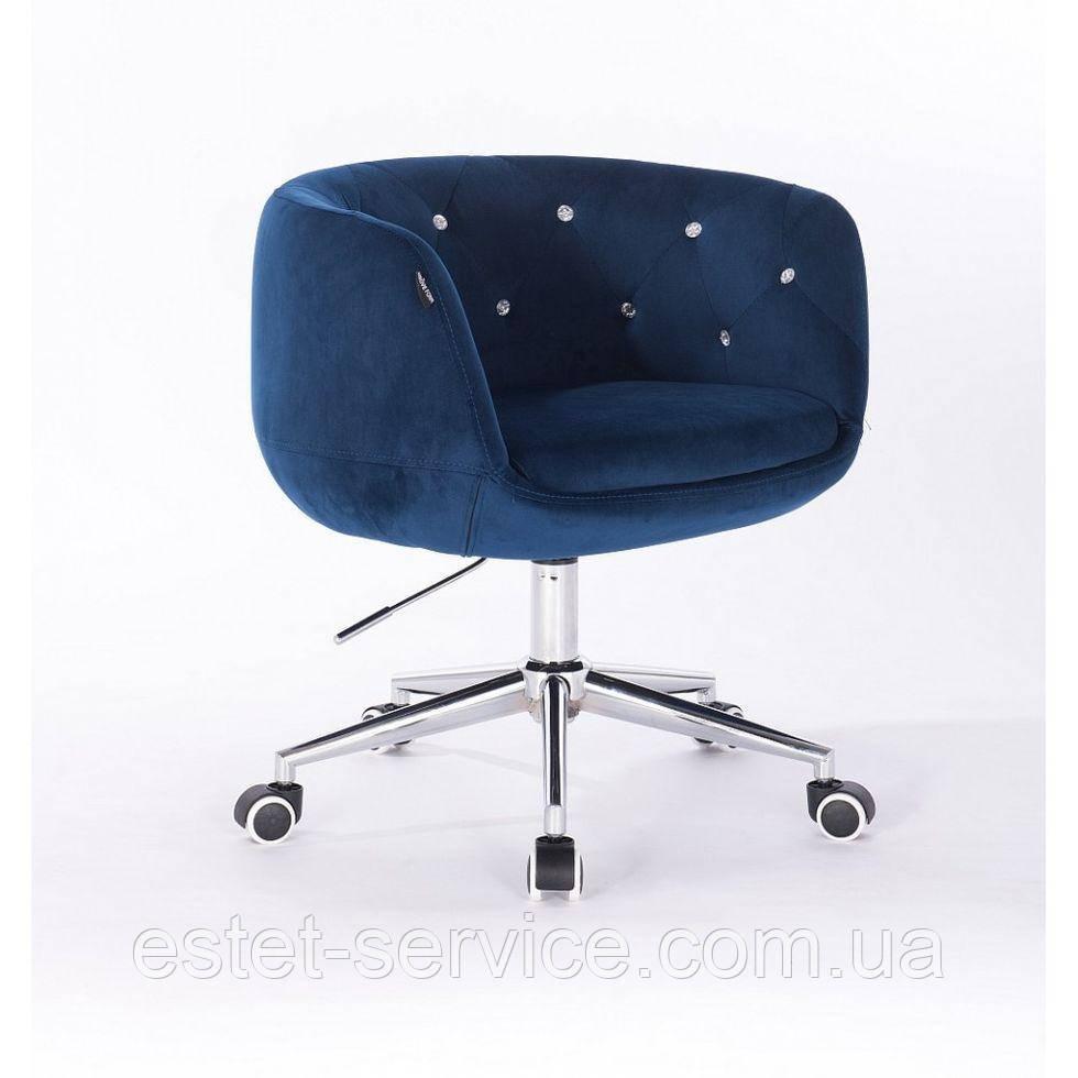 Косметическое кресло HROOVE FORM HR333K синий велюр